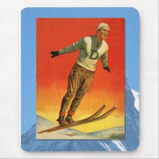 Skiing -Ski jumper Mouse Pad