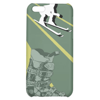 Skiing Speck iPhone 4 Case Ski Boot Army Green