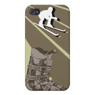 Skiing Speck iPhone 4 Case Ski Boot Combat Brown