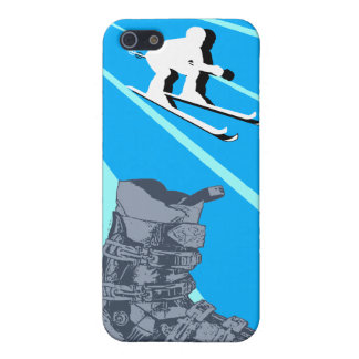 Skiing Speck iPhone 4 Case Ski Boot Sky Blue