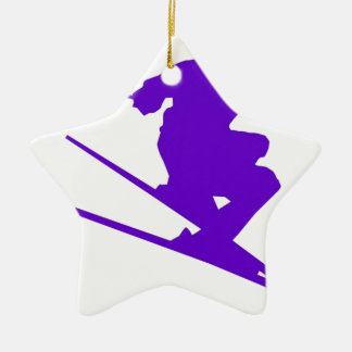 Skiing Sport Design Ceramic Star Decoration