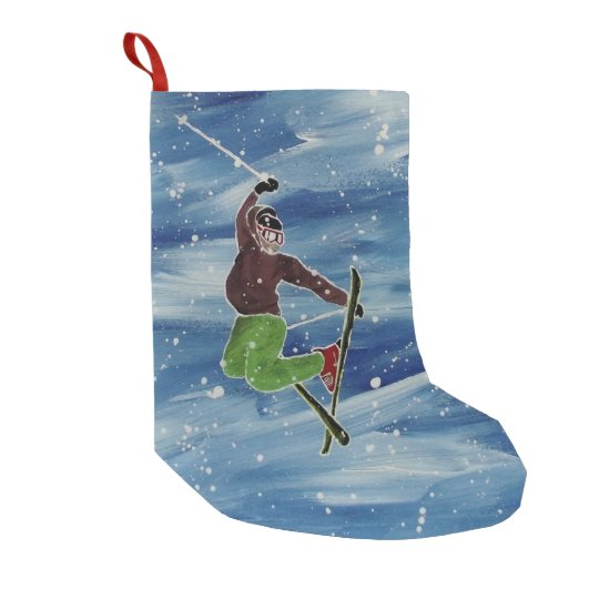 Skiing theme stocking
