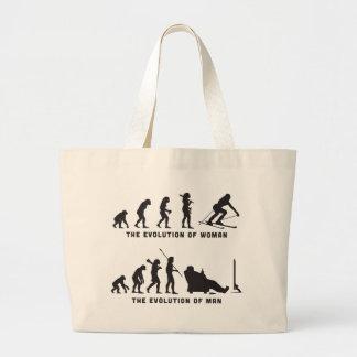 Skiing Jumbo Tote Bag
