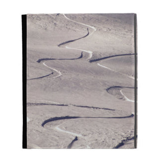 Skiing Tracks iPad Folio Cases