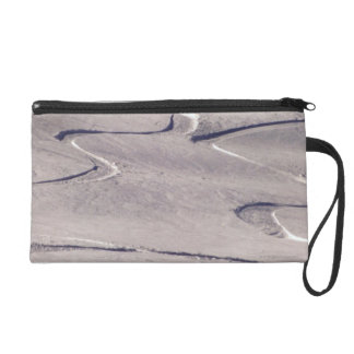 Skiing Tracks Wristlet
