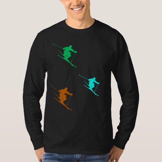 Skiing Trio Men's Basic Long Sleeve T-Shirt