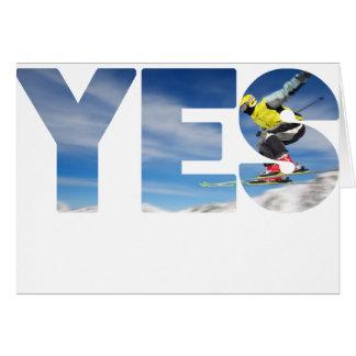 Skijumping Card
