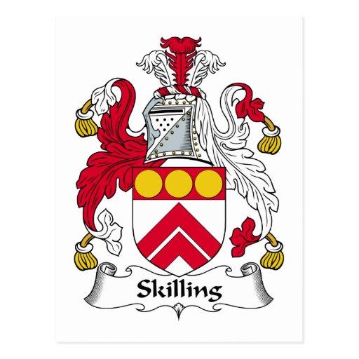 Skilling Family Crest Postcard