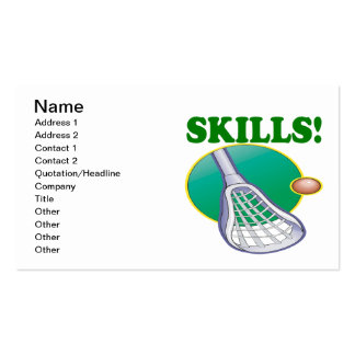 Skills Pack Of Standard Business Cards