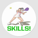 Skills Round Stickers