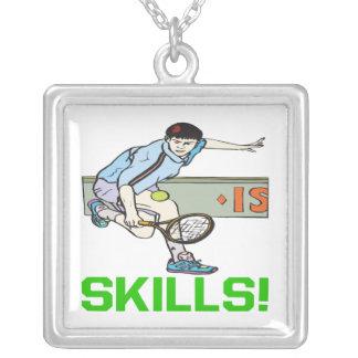 Skills Square Pendant Necklace