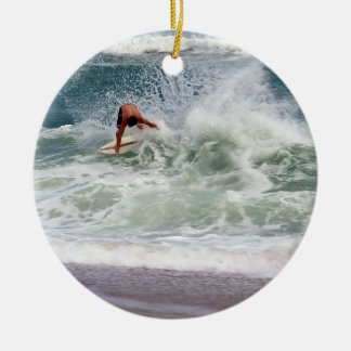 Skimboarding by Shirley Taylor Christmas Ornament