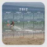 Skimming the Surf; 2012 Calendar Square Stickers