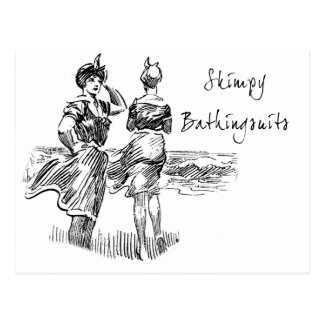 Skimpy Bathing Suits Postcards