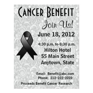 Skin Cancer Awareness Benefit Gray Floral Flyer
