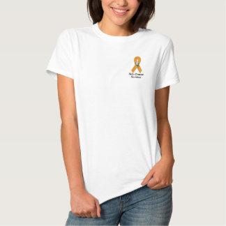 Skin Cancer Awareness :: Embroider Orange Ribbon 2 Polos
