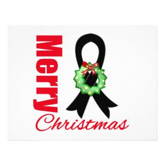 Skin Cancer Awareness Merry Christmas Ribbon Custom Flyer