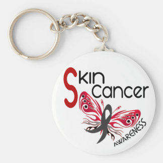 Skin Cancer BUTTERFLY 3.1 Basic Round Button Key Ring