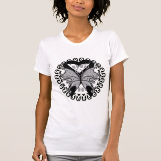 Skin Cancer Butterfly Circle of Ribbons T-shirt