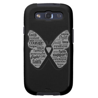 Skin Cancer Butterfly Collage of Words Samsung Galaxy SIII Case