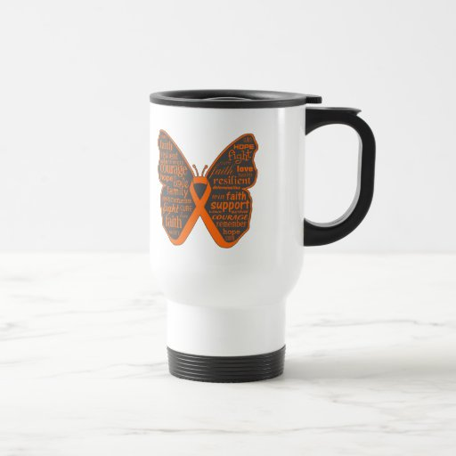 Skin Cancer Butterfly Collage of Words v2 Coffee Mugs