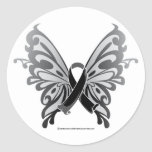 Skin Cancer Butterfly Ribbon