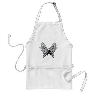 Skin Cancer Butterfly Ribbon Standard Apron