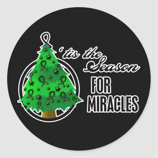 Skin Cancer Christmas Miracles Stickers