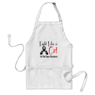 Skin Cancer Cool Retro Fight Like a Girl Aprons