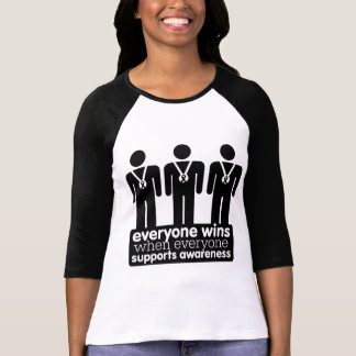 Skin Cancer Everyone Wins With Awareness T-shirts