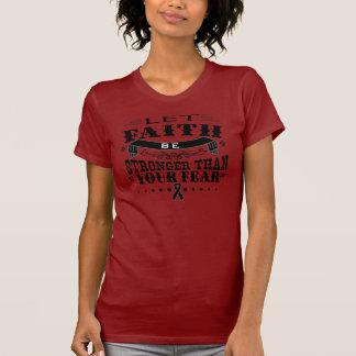 Skin Cancer Faith Stronger than Fear Shirt
