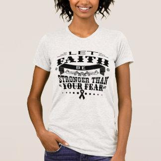Skin Cancer Faith Stronger than Fear Shirts