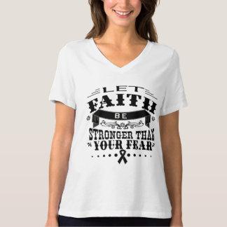 Skin Cancer Faith Stronger than Fear T Shirt