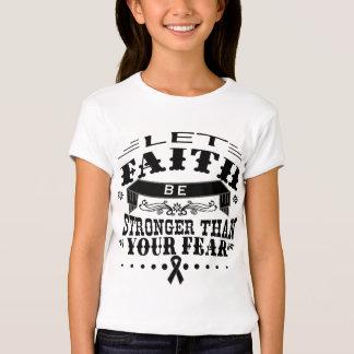 Skin Cancer Faith Stronger than Fear T-shirt