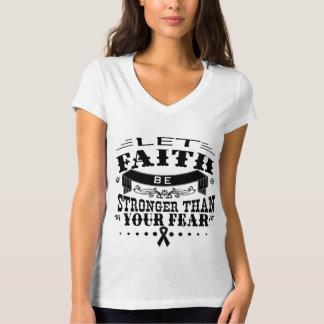 Skin Cancer Faith Stronger than Fear T Shirts