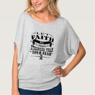 Skin Cancer Faith Stronger than Fear Tshirts