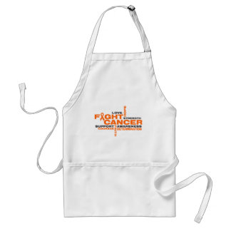 Skin Cancer Fight Collage Apron