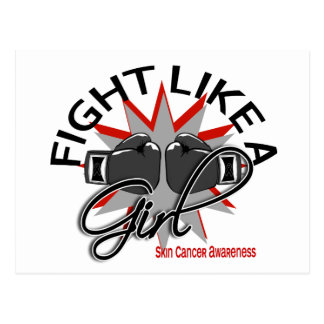Skin Cancer Fight Like A Girl 12 3 Post Card