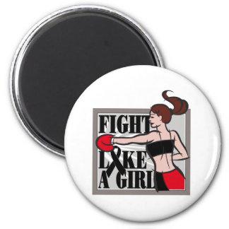 Skin Cancer Fight Like A Girl Boxer Fridge Magnets