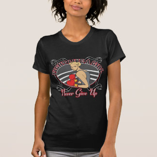 Skin Cancer Fight Like A Girl Boxer Tshirts