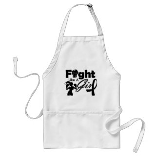 Skin Cancer Fight Like A Girl Silhouette Standard Apron