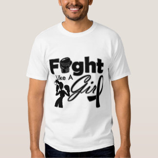 Skin Cancer Fight Like A Girl Silhouette Tshirt