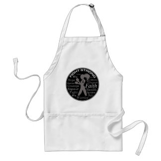 Skin Cancer Fight Strong Motto Collage Standard Apron