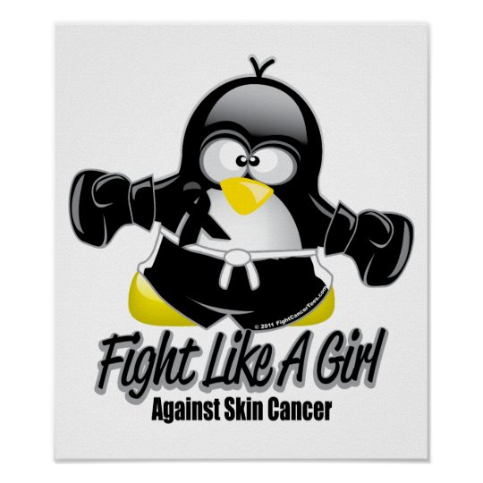 Skin Cancer Fighting Penguin Poster