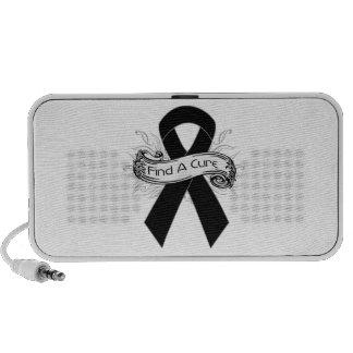 Skin Cancer Find A Cure Ribbon iPod Speaker