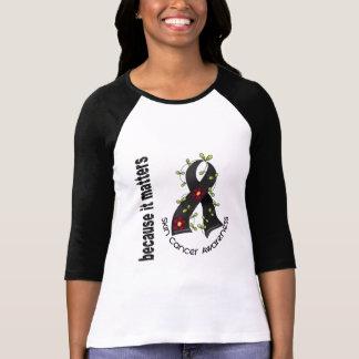 Skin Cancer Flower Ribbon 3 T-shirt