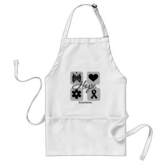 Skin Cancer Hope Love Inspire Awareness Adult Apron