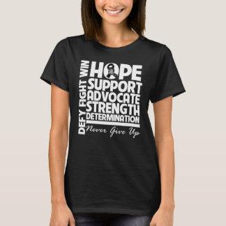 Skin Cancer Hope Support Strength T-Shirt