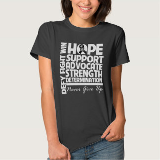 Skin Cancer Hope Support Strength Tshirts