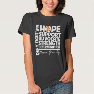 Skin Cancer Hope Support Strength v2 Tee Shirts